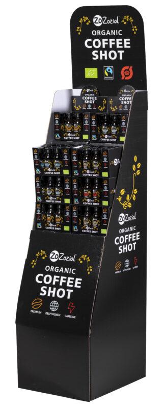 ZoZozial Coffee Shot display