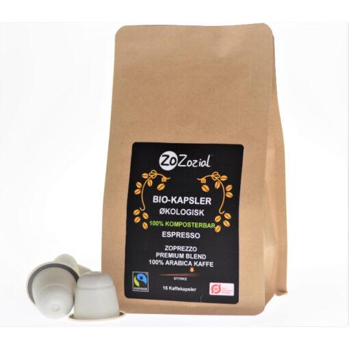 Espresso sustainable organic fairtrade coffee capsules pods